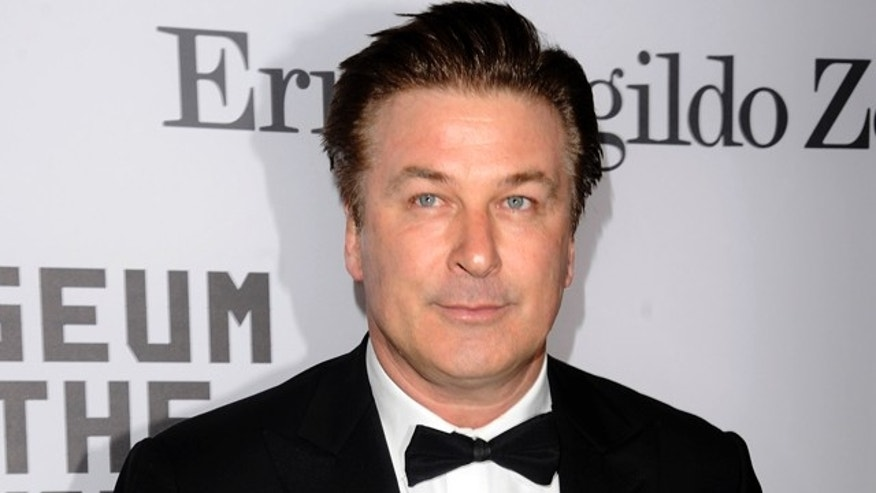 Feb. 28: Actor Alec Baldwin poses with his award where he was saluted by the Museum Of The Moving Image in New York.
