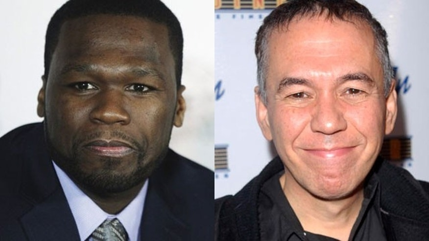 50 Cent and Gilbert Gottfried (right) have something in common (AP)