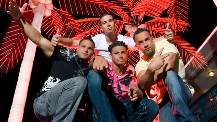 The men of the 'Jersey Shore' cast in a promotional shot from MTV.