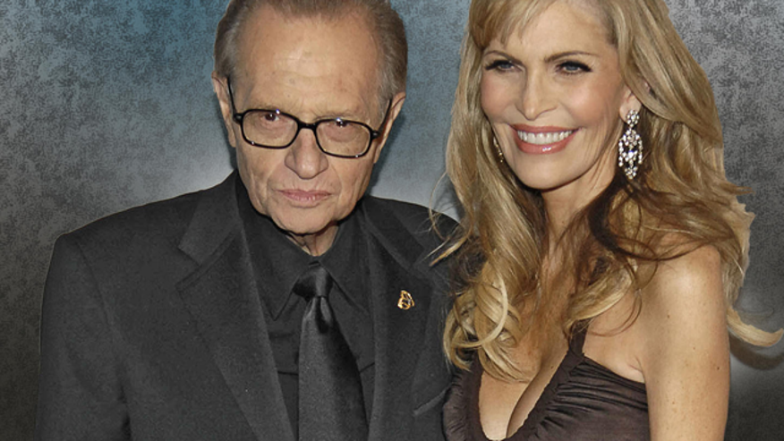Larry King and his wife Shawn Shouthwick. (AP)