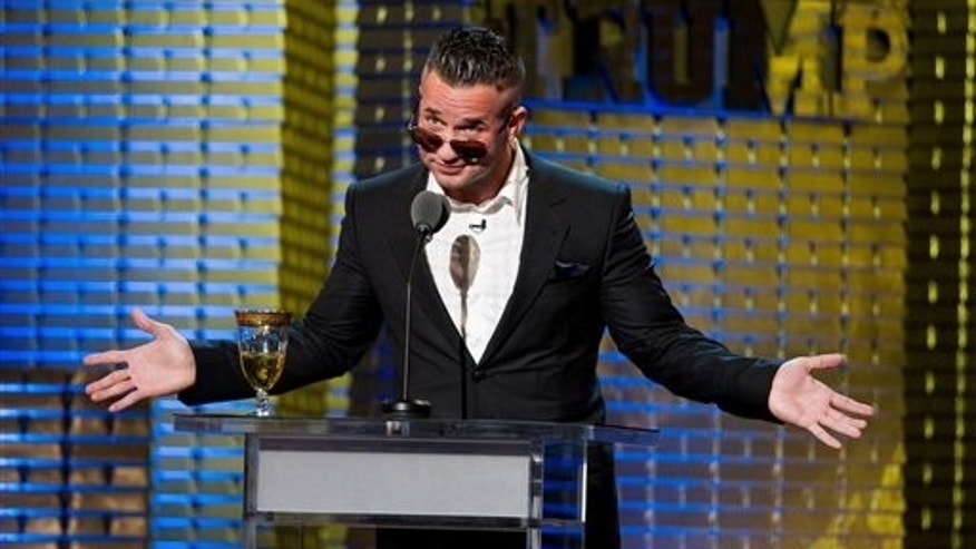 "March 9: Mike ""The Situation"" Sorrentino appears onstage at the Comedy Central Roast of Donald Trump in New York. (AP)"