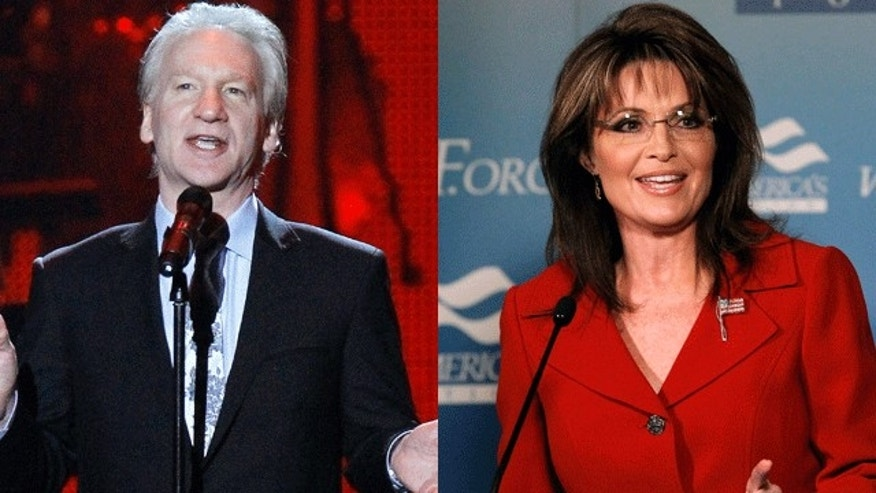 Bill Maher and Sarah Palin. (Reuters)