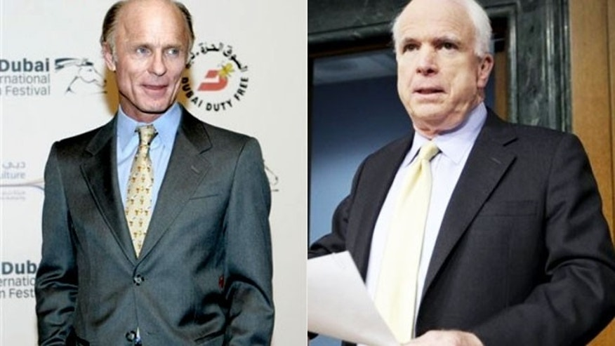 Actor Ed Harris (L) will play John McCain in the new HBO film 'Game Change' (AP)