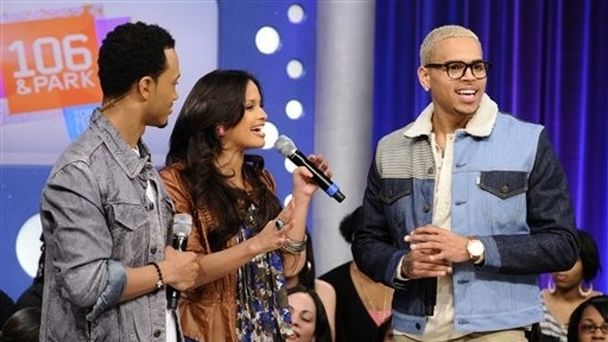 March 23: Chris Brown appears on BET's '106 and Park,' where he apologized for his outburst earlier this week. (AP)