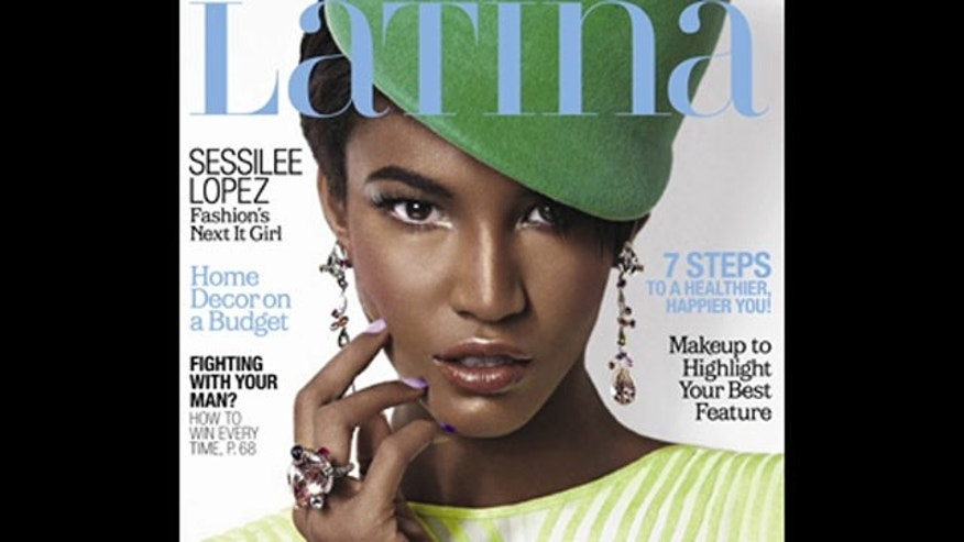 Model Sessilee Lopez on the cover of Latina magazine.