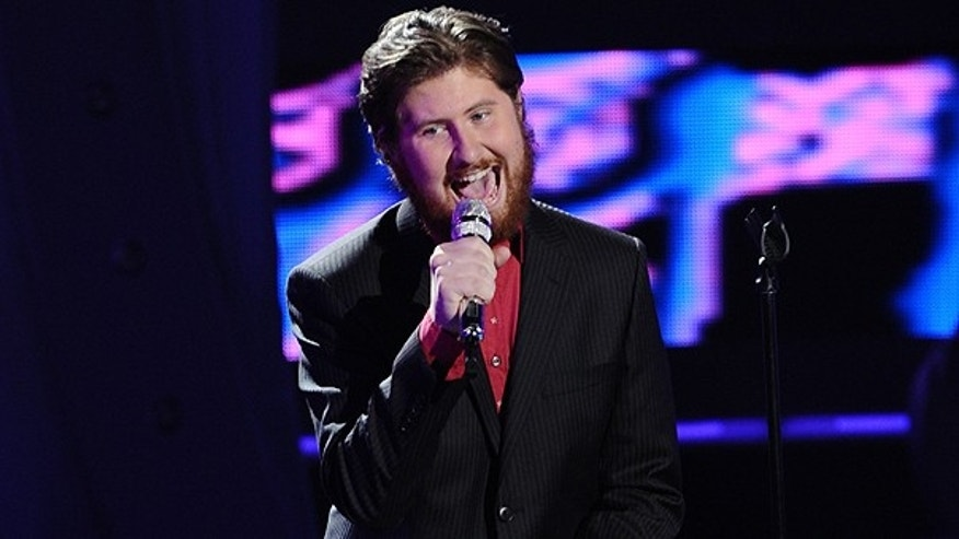 March 23: In this publicity image released by Fox, contestant Casey Abrams performs on the singing competition series, 'American Idol,' in Los Angeles.