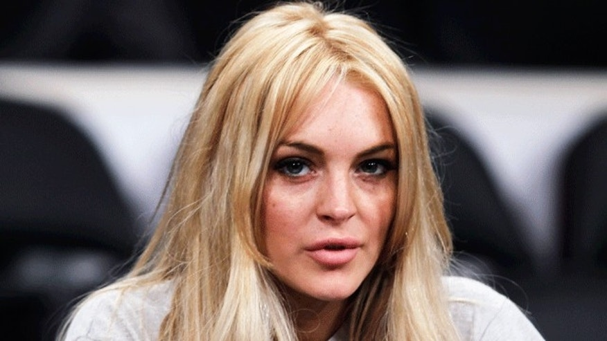 Lindsay Lohan at a New York Knicks game. (Reuters)