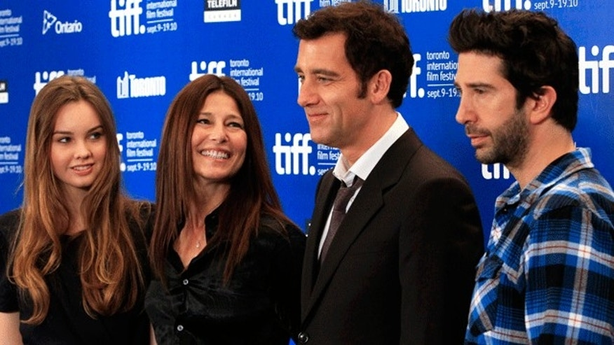 David Schwimmer, Clive Owen, Catherine Keener and Liana Liberato at the Toronto Film Festival premiere of 'Trust.' (Reuters)