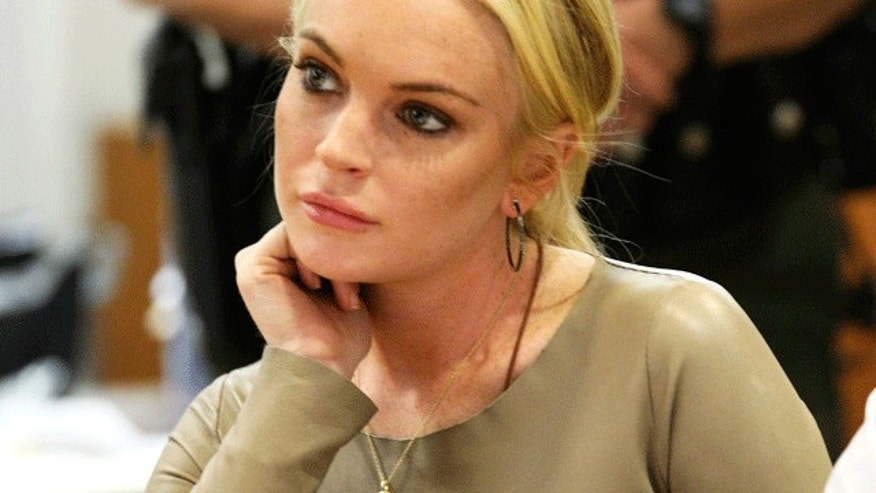 Lindsay Lohan in court on March 10, 2011. (Reuters)