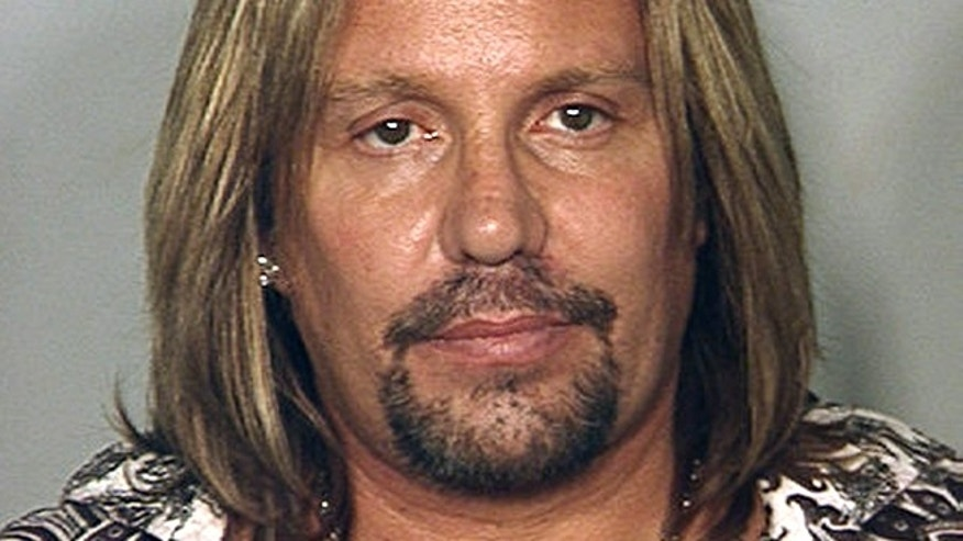 Motley Crue singer Vince Neil's mug shot from the Las Vegas Police Department, released to Reuters June 28, 2010. (REUTERS)
