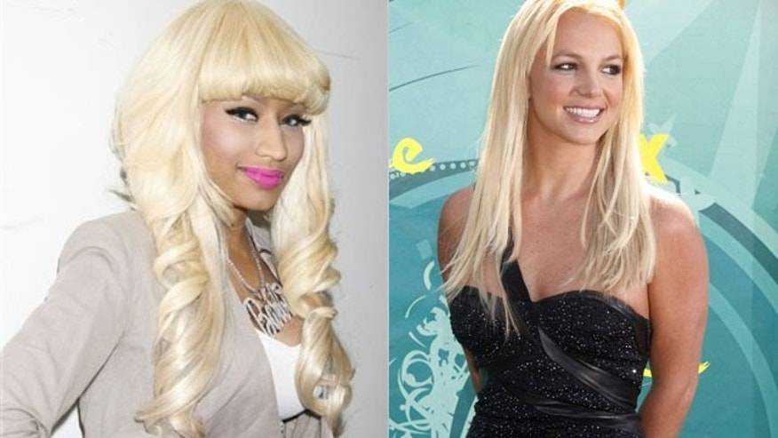 Nicki Minaj (left) will join Britney Spears on tour this summer (AP/Reuters)