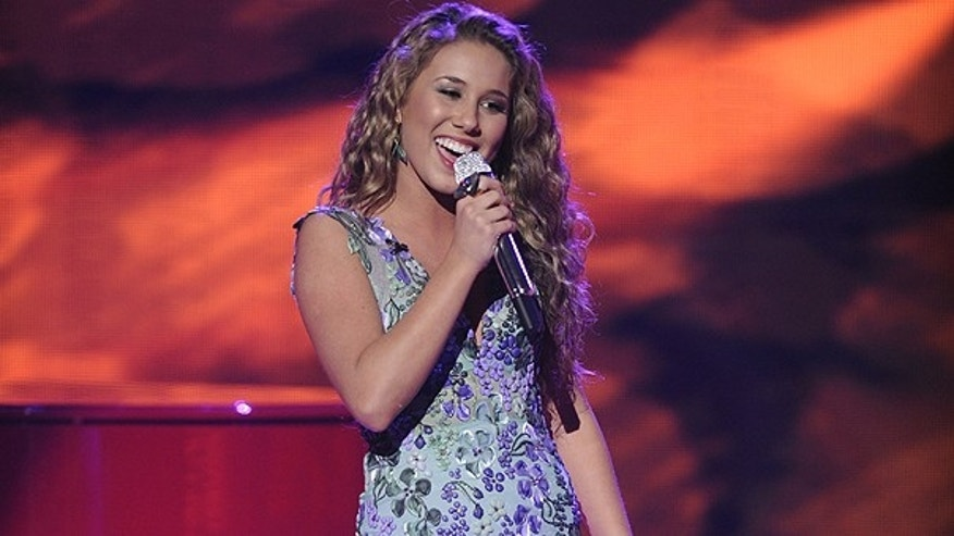 March 30: In this photo released by Fox, Haley Reinhart performs in front of the judges on the singing competition series, 'American Idol,' in Los Angeles.