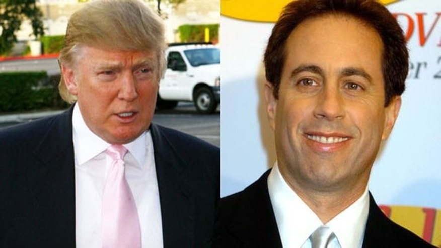 Donald Trump is upset with Jerry Seinfeld (AP)