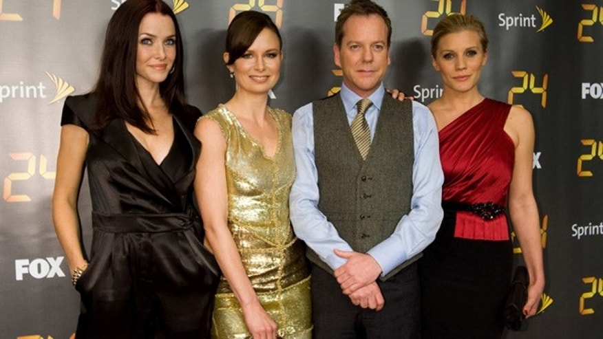 '24' cast members Annie Wersching, Mary Lynn Rajskub, Kiefer Sutherland and Katee Sackhoff.