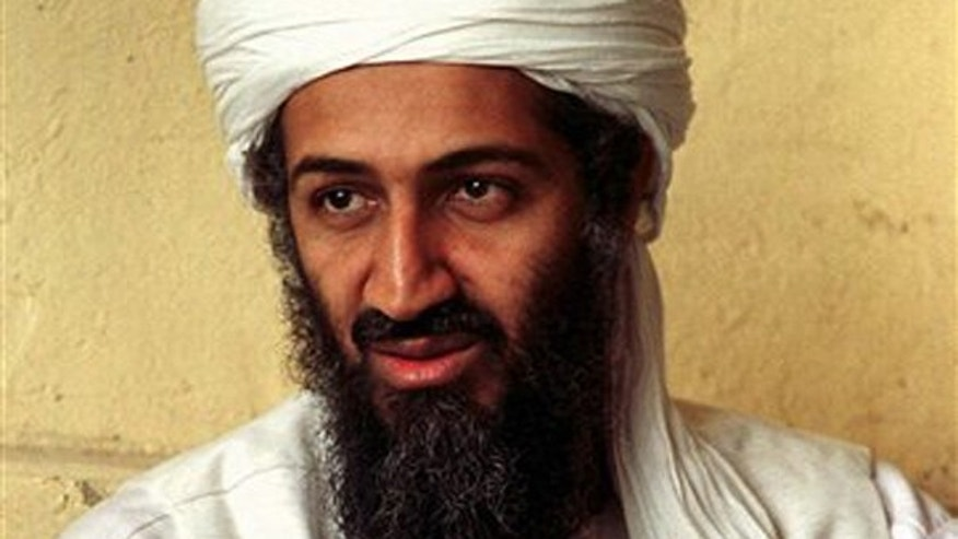 In this April 1998 file photo, exiled Al Qaeda leader Usama bin Laden is seen in Afghanistan.