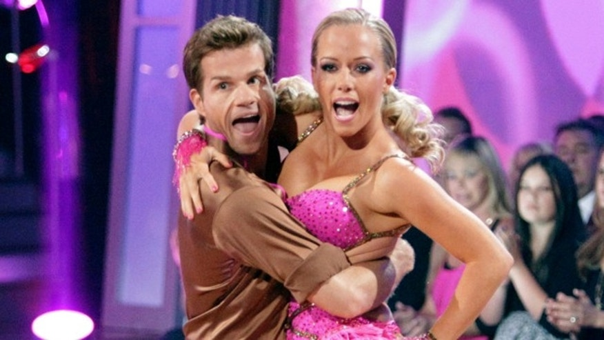 "May 2: In this publicity image released by ABC, Kendra Wilkinson, right, and her partner Louis Van Amstel perform on the celebrity dance competition series ""Dancing with the Stars,"" in Los Angeles. (AP Photo/ABC, Adam Taylor)"