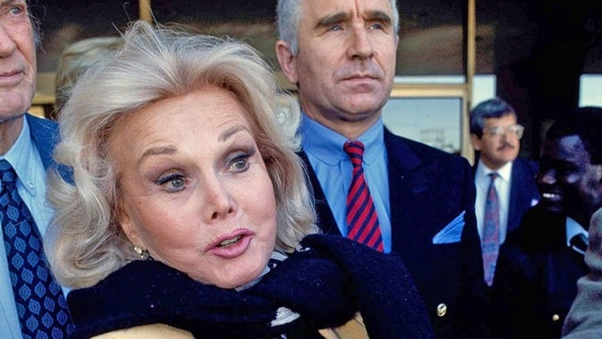 Zsa Zsa Gabor is shown with her husband, Frederick von Anhalt, in Midland, Tex., in this Jan. 27, 1993, file photo where she was accused of breach of contract with Hollywood Fantasy Corporation.