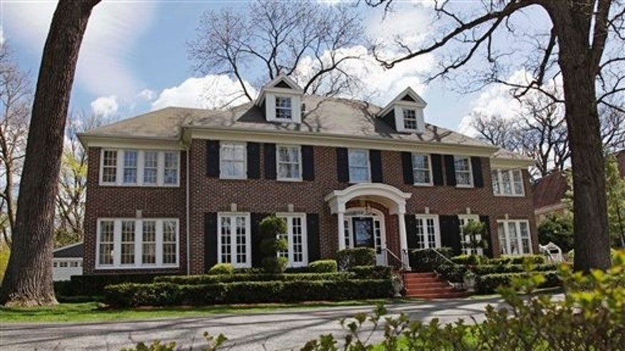 "This 14-room brick house in Winnetka, Ill., seen Friday, May 6, 2011, and featured in the 1990 movie ""Home Alone"" has been put up for sale for $2.4 million. (AP)"