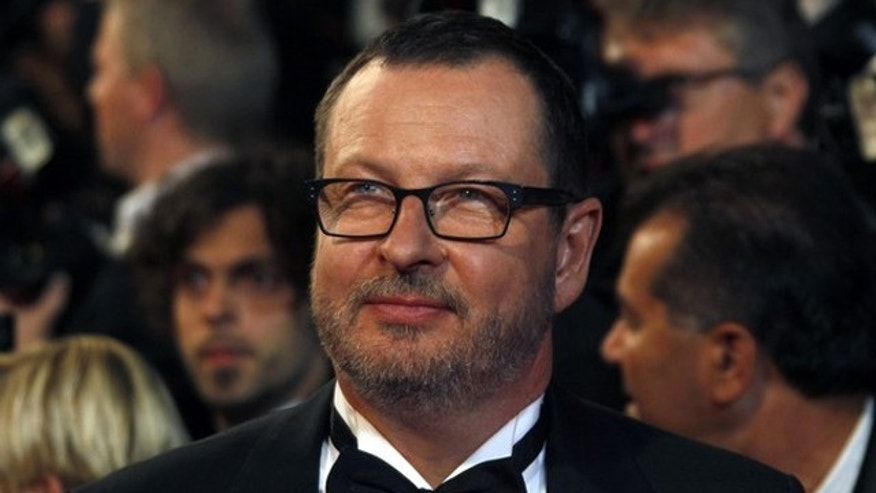 "May 18: Director Lars von Trier arrives on the red carpet for the screening of the film ""Melancholia"" at the 64th Cannes Film Festival."