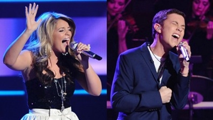 'American Idol' finalists Lauren Alaina and Scotty McCreery. (AP/FOX)