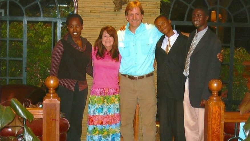 Jeff Foxworthy in Nairobi, Kenya with Compassion International in 2008.
