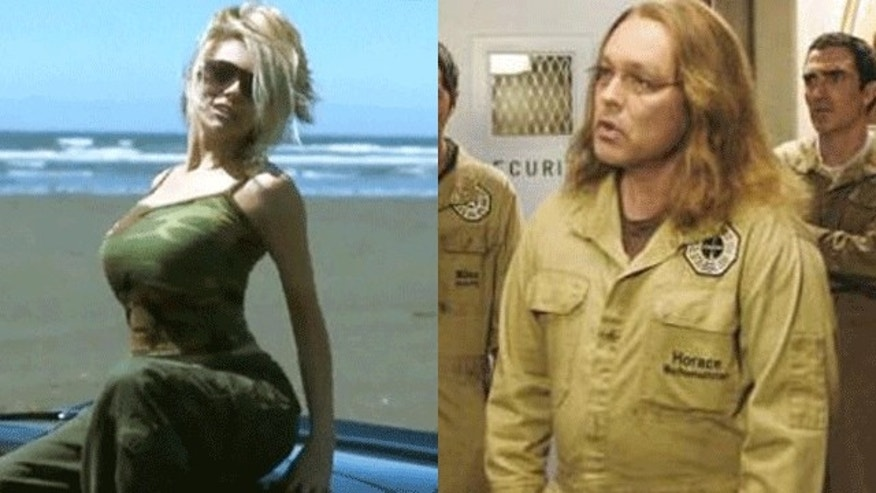 "Courtney Stodden in one of her videos and Doug Hutchinson in an episode of ""Lost."" (YouTube/ABC)"