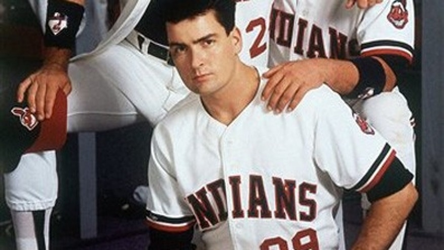"In this 1989 image provided by Paramount Pictures, Tom Berenger, right, plays Cleveland Indians catcher Jake Taylor, Charlie Sheen, below, is the teams pitcher Ricky Vaughn, and Corbin Bernsen, above, plays third baseman Roger Dorn in the Paramount comedy ""Major League."" Sheen tells Sports Illustrated in its latest issue that he took steroids ""for like six or eight weeks"" while filming ""Major League."" He adds that the performance-enhancing drugs helped his fastball go from 79 mph to 85 mph."