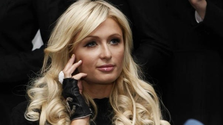 February 3, 2011: Celebrity socialite Paris Hilton attends a news conference at the Frankfurt stock exchange. REUTERS