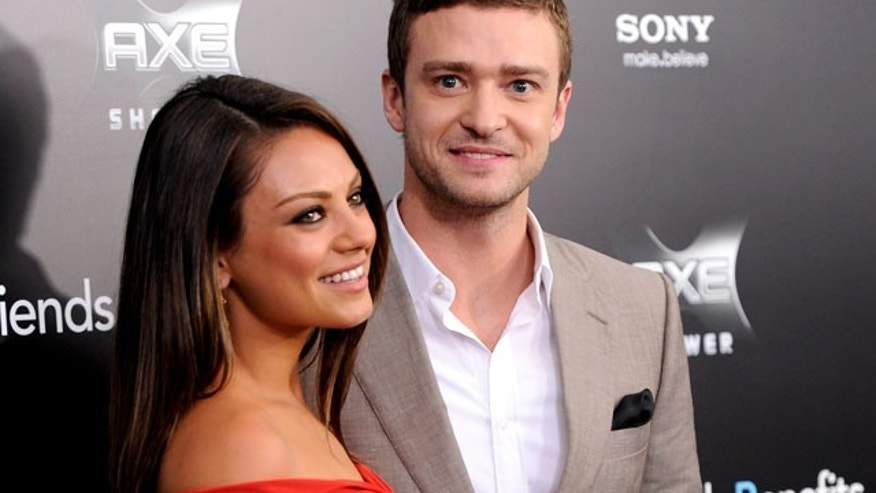 July 18: Mila Kunis and Justin Timberlake at the New York premiere of their film 'Friends With Benefits.' (AP)