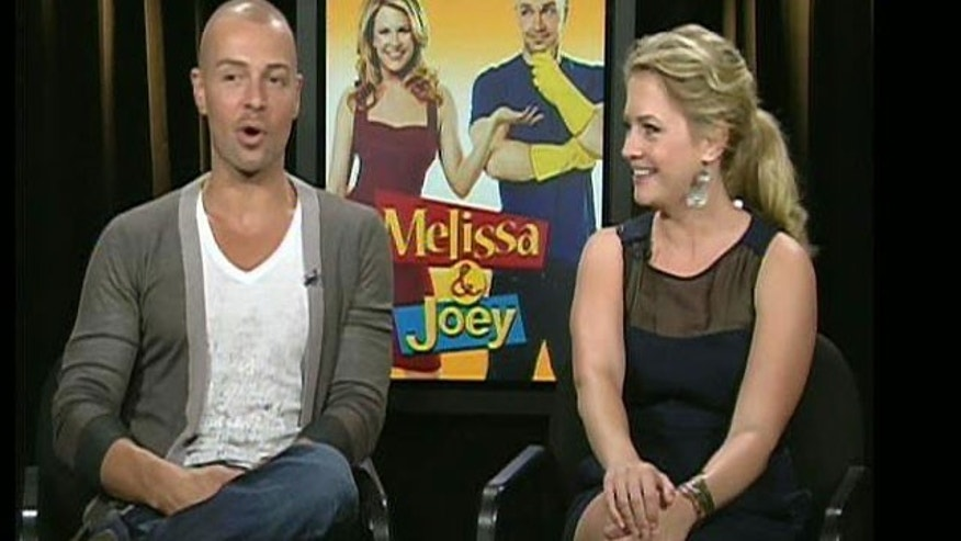 "Aug. 15: Joey Lawrence and Melissa Joan Hart stopped by ""The Strategy Room"" to discuss their new show ""Melissa and Joey."""