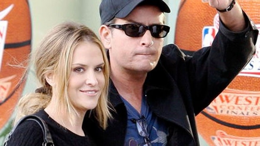 Charlie Sheen and Brooke Mueller before their 2009 split.