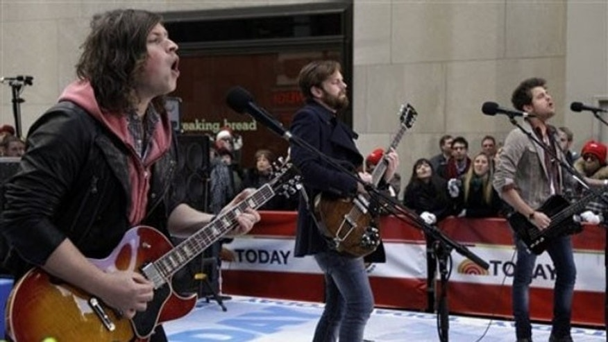 Kings of Leon perform on the Today Show.