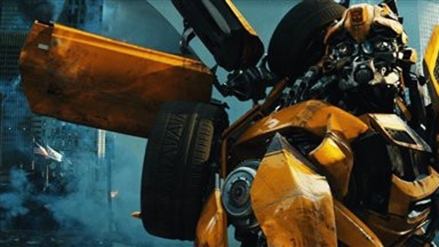"In this publicity image released by Paramount Pictures, Bumblebee is shown in a scene from ""Transformers: Dark of the Moon."""