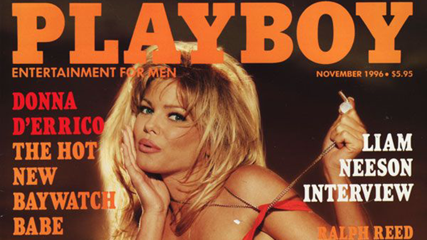 Donna D'Errico on the cover of Playboy in 1996. (Playboy)