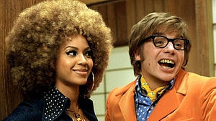 "Beyonce and Mike Myers in ""Austin Powers: Goldmemeber"""