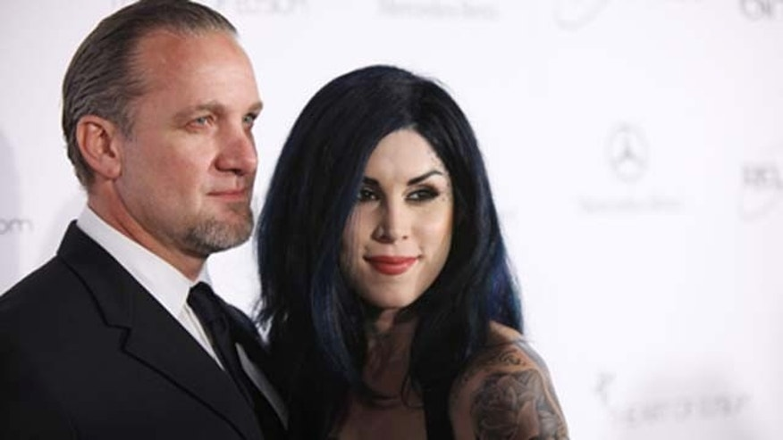 Jan. 15, 2011: TV personalities Jesse James (L) and Kat Von D attend the Art Of Elysium 'Heaven' Gala 2011 at The California Science Center Exposition Park in Los Angeles, Calif.