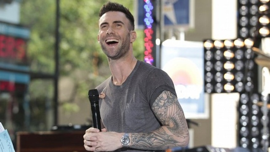 Aug. 5: Singer Adam Levine appears with his band Maroon 5 on NBC's Today show in New York.