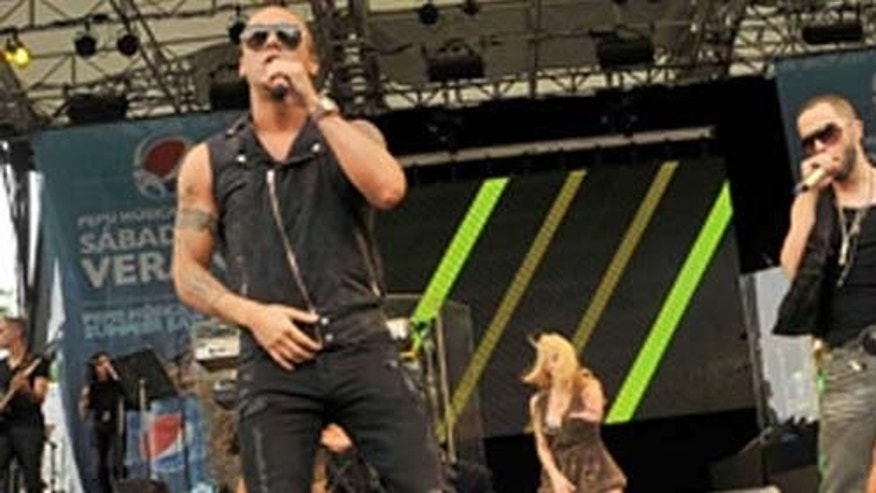 <<attends>> Pepsi Musica's Sabados de Verano Presents Wisin & Yandel In New York at Central Park SummerStage on August 11, 2011 in New York City.