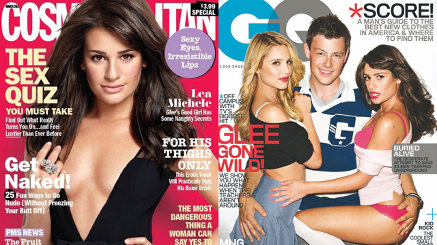 Lea Michele on 'Cosmopolitan' and 'GQ.' (Hearst/Conde Nast)