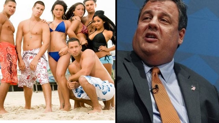 The cast of 'Jersey Shore' (left) may have a change of location due to a recent veto from NJ Governor Chris Christie (MTV/AP)