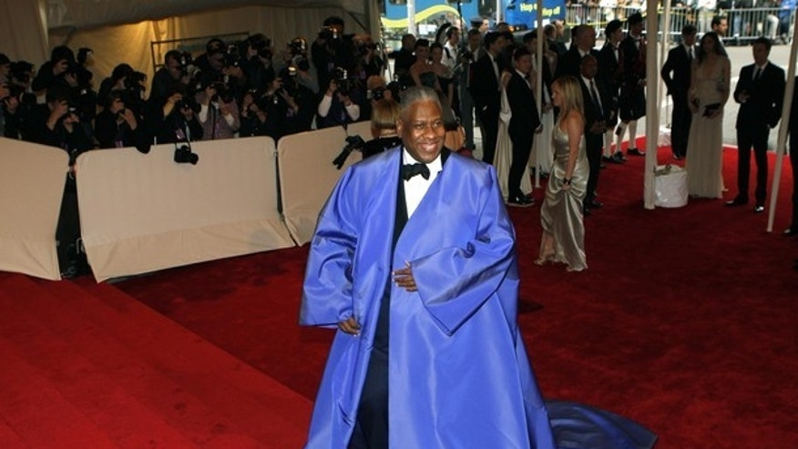 May 2: Andre Leon Talley arrives at the Metropolitan Museum of Art Costume Institute Benefit celebrating the opening of Alexander McQueen: Savage Beauty. (AP)
