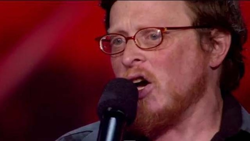 "Sept. 29, 2011: Andy Silikovitz performs Mariah Carey's ""Hero"" on The X Factor Thursday night."