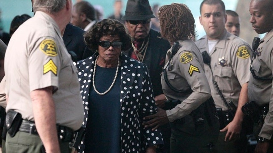 Sept. 27, 2011: Michael Jackson's parents Katherine Jackson and Joe Jackson arrive to court for the trial of Conrad Murray, Michael Jackson's doctor.