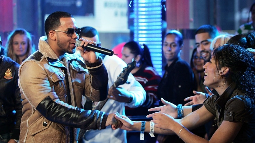 Jan. 12, 2007: Anthony Santos of the band Aventura performs onstage during MTV's mi Total Request Live at the MTV Times Square Studios in New York City.