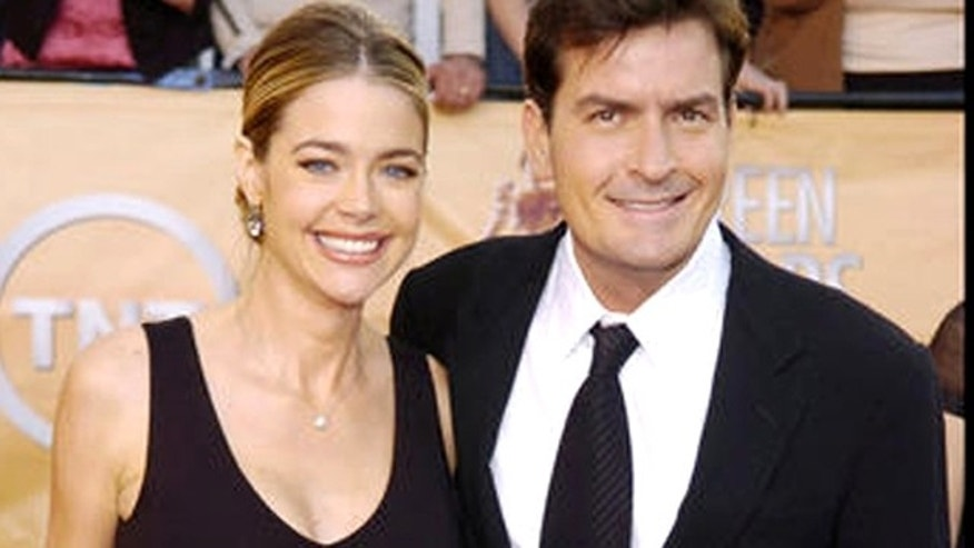 Charlie Sheen and Denise Richards. (AP)