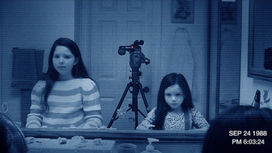 "In this image released by Paramount Pictures, a scene is shown from the film ""Paranormal Activity 3."""