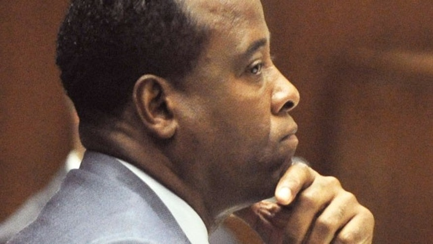 Conrad Murray at his manslaughter trial in the death of Michael Jackson.