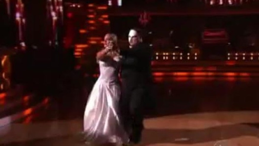 Oct. 24, 2011: Chaz Bono dances the tango to Phantom of the Opera on DWTS Monday night.