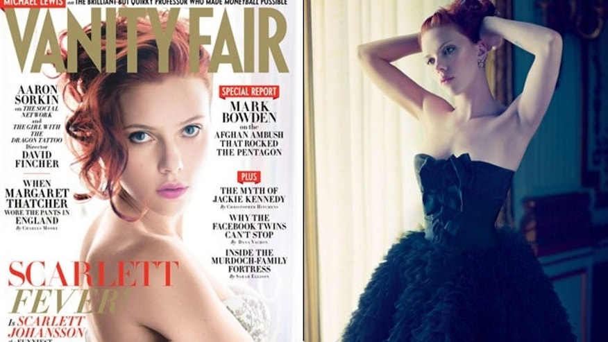 Scarlett Johansson in Vanity Fair's December 2011 Issue.