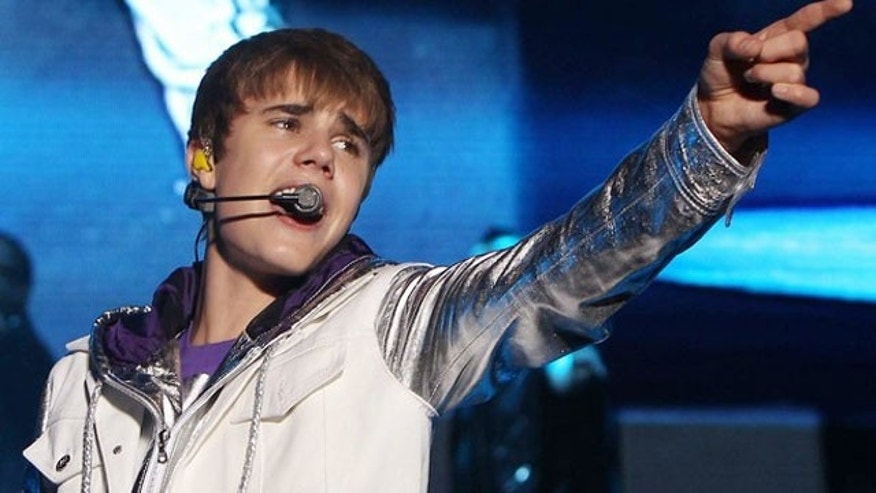 May 10: Canadian pop singer Justin Bieber performs on stage during his concert in Manila. (Reuters)